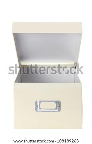 Cardboard Box on White Background - stock photo