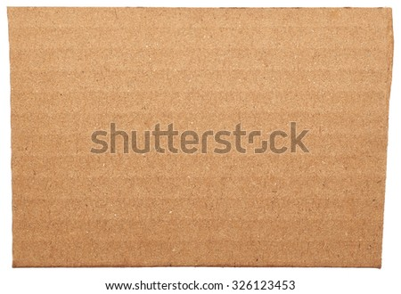 Cardboard close up isolated on white background - stock photo