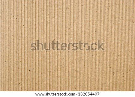 cardboard corrugated pattern background, vertical - stock photo