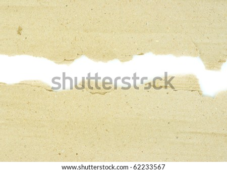 Cardboard pieces on the isolated white background - stock photo