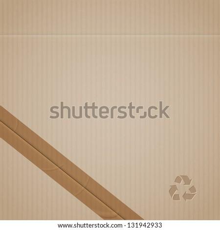 Cardboard.  Raster version - stock photo