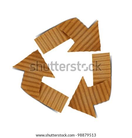cardboard recycling - stock photo