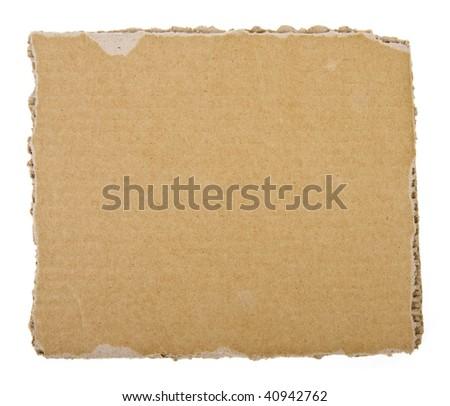 cardboard sheet background  isolated on white background - stock photo