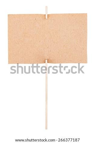 Cardboard sign - stock photo