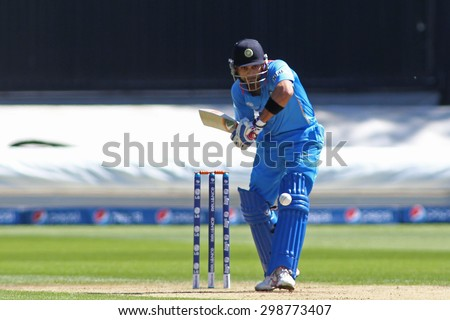 CARDIFF, WALES - June 04 2013: India's Virat Kohli during the ICC Champions Trophy warm up match between India and Australia at the Cardiff Wales Stadium on June 04, 2013 in Cardiff, Wales - stock photo