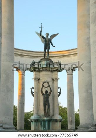 Cardiff war memorial - stock photo