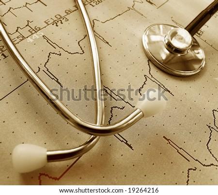 Cardiogram - stock photo
