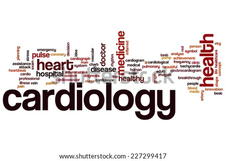 Cardiology word cloud concept - stock photo