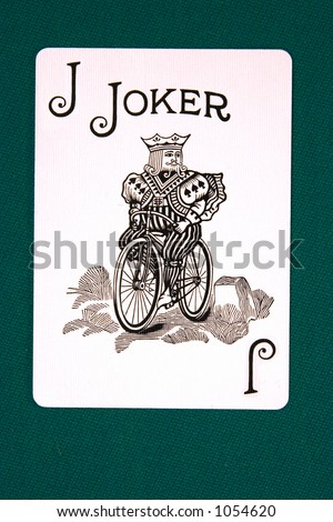cards all 14 #joker. - stock photo