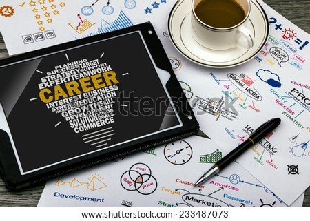 career concept - stock photo