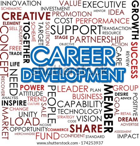 Career development word cloud - stock photo