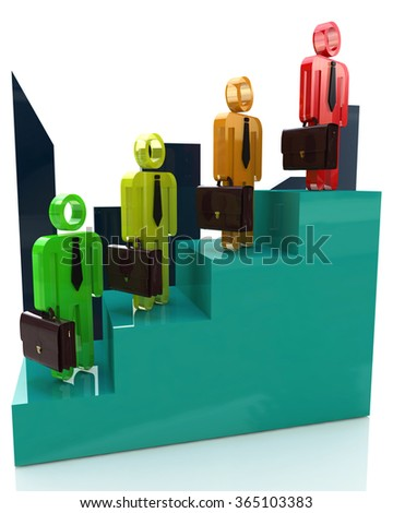 Career growth, Career development, Career advancement, Business staircase in the design of information related to professional growth - stock photo