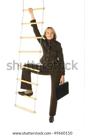 Career ladder - stock photo