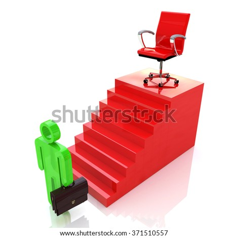 Career Ladder. Motivation of professional growth in the design of information related to career and people - stock photo