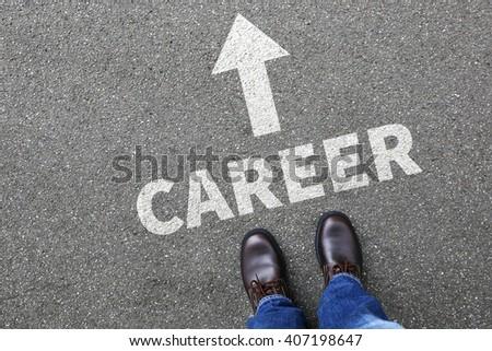 Career opportunities goals success successful and development businessman business man concept - stock photo