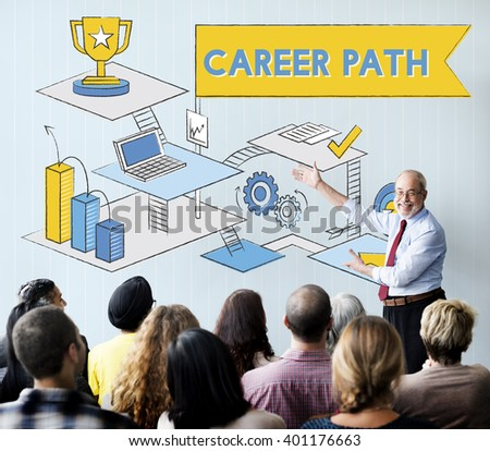 Career Path Employment Human Resources Work Concept - stock photo