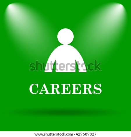 Careers icon. Internet button on green background. - stock photo