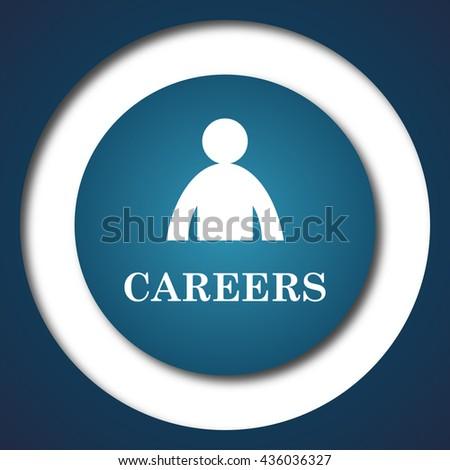 Careers icon. Internet button on white background. - stock photo