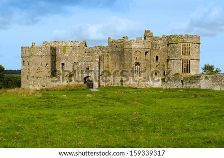 Carew Castle in the Pembrokeshire National Park � Wales, United Kingdom - stock photo