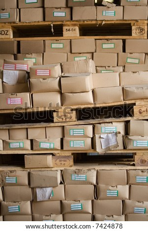 Cargo boxes - stock photo