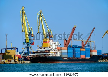 Cargo loading - stock photo