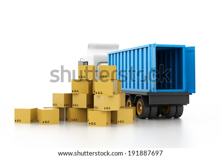 Cargo transportation concept - stock photo
