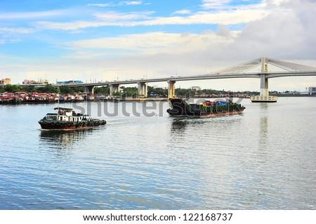 Cargo transportation in Cebu, Philippines - stock photo