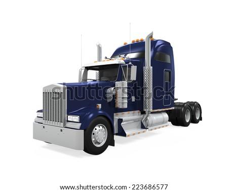 Cargo Truck Isolated - stock photo