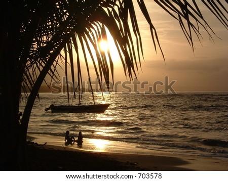 caribbean - stock photo