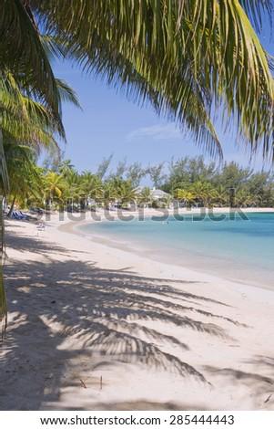 Caribbean Beach: Half Moon Beach in Jamaica - stock photo