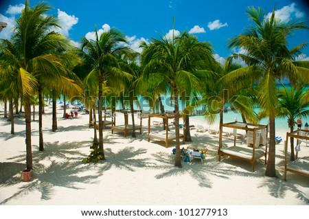 Caribbean Beach. Paradise Resort - stock photo
