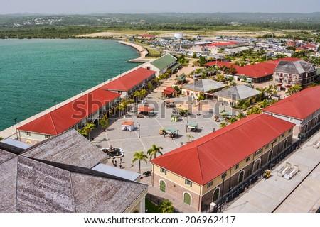 caribbean cruise port of falmouth jamaica - stock photo