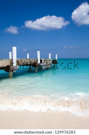 Caribbean pier - stock photo