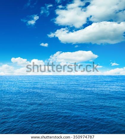 caribbean sea and perfect sky - stock photo