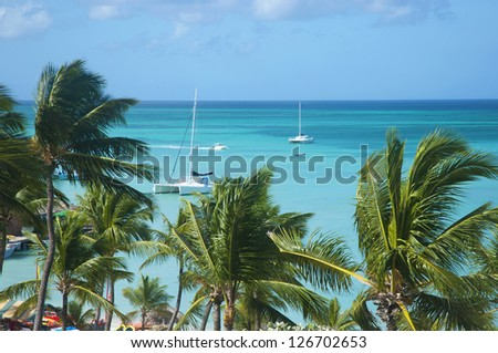 Caribbean sea beach - stock photo