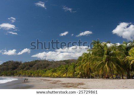 Carillo Beach in Costa Rica - stock photo