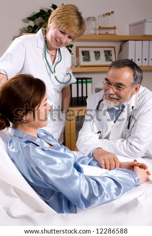 Caring professionals - stock photo