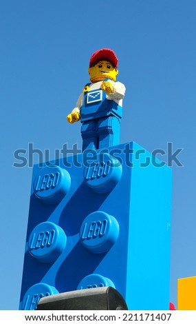CARLSBAD, California USA- APRIL 2014: Legoland California Lego men - stock photo