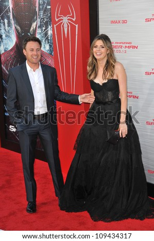 "Carly Steel & Chris Harrison at the world premiere of ""The Amazing Spider-Man"" at Regency Village Theatre, Westwood. June 29, 2012  Los Angeles, CA Picture: Paul Smith / Featureflash - stock photo"