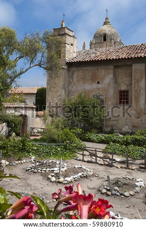 Carmel Mission in the Summer - stock photo