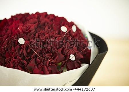 Carnation flower bouquet - stock photo