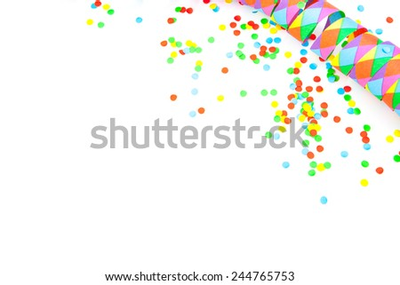 Carnival background on white - stock photo