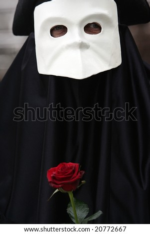 Carnival costume in Venice, Italy - stock photo