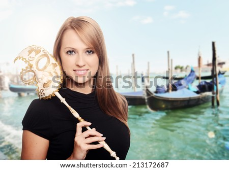 Carnival girl - stock photo