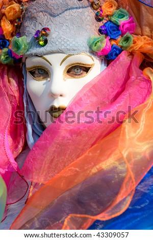Carnival mask in Venice, Italy. - stock photo
