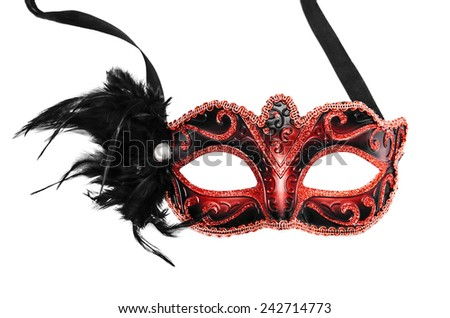 Carnival mask isolated on a white background. - stock photo