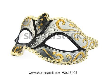 Carnival mask isolated on white background. - stock photo