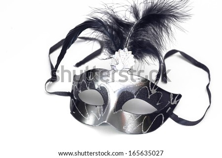 Carnival mask on a white background, Carnival mask, photography - stock photo