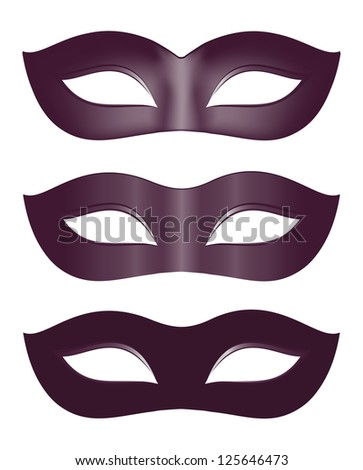 Carnival masks in black - stock photo