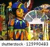 CARNIVAL RIO DE JANEIRO - FEBRUARY 19: Samba School parade float at the Sambadome February 19, 2012 in Rio de Janeiro, Brazil. The Rio Carnival is the biggest carnival in the world. - stock photo